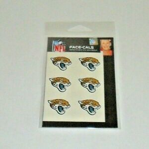 JACKSONVILLE-JAGUARS-6-TEMPORARY-FACE-TATTOOS-FACE-CALS-FAST-FREE-SHIPPING