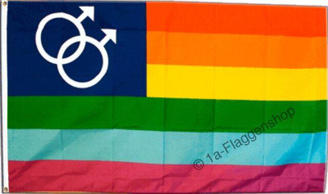 Fahne Regenbogen Schwul Mars Men Flagge  Hissflagge 90x150cm