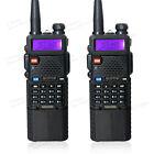 2 PCS BaoFeng UV-5R Dual UHF/VHF Radio Transceiver + 3800mah Battery US Stock