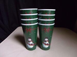 Lot Set 8 Dolgencorp Melamine Plastic 16 Oz Tumblers Cups