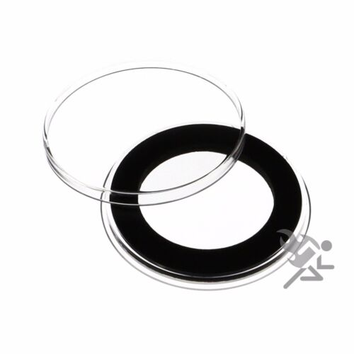 Air-Tite Holders 33mm Black Ring 10 Pack 1//2oz Silver Libertad Coin Capsules
