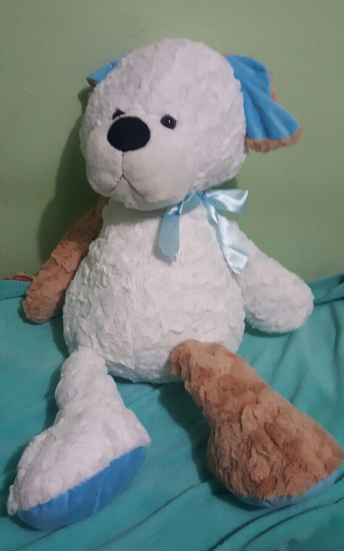 Animal Adventure marrone bianca Dog Plush Large Huge 42  head to toe Stuffed Toy
