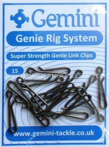 cod bass, Gemini Super Strength Genie Link Clips strong sea fishing rig clips