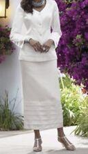 sz 12 White Snow Queen Tiered Skirt Suit Midnight Velvet new