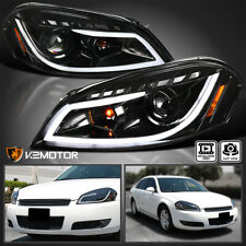 Jet Black For 2006 2013 Chevy Impala Led Strip Projector Headlights Signal Lamps Fits 2006 Impala