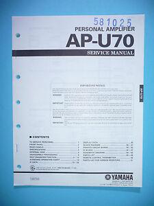 Service-Manual-instrucciones-para-yamaha-ap-u70-original