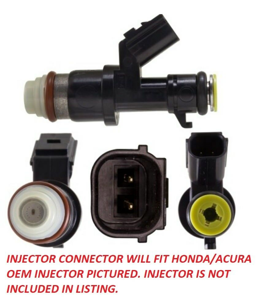 Honda Civic accord k24 Si CR-V 2.4L Fuel Injector Connector Pigtail TSX EX LX SE