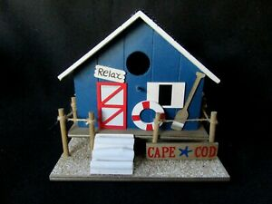 Fine Details About Cape Cod Beach Cottage Bird House Brand New Home Interior And Landscaping Ferensignezvosmurscom