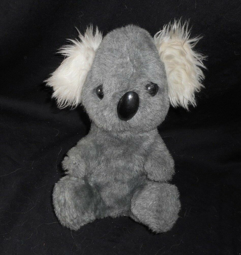 10   Vintage Tier- Fee Grau Baby Koala Teddybär B Ohren Plüsch