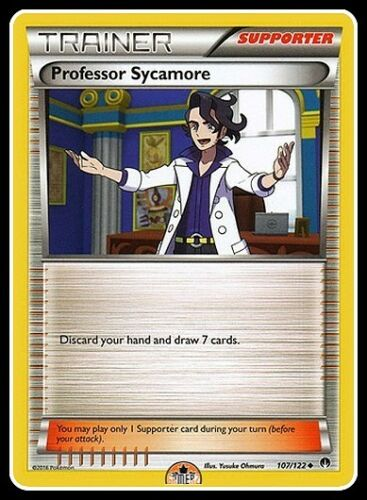 2 x Professor Sycamore 107//122 XY BreakPoint NM-Mint!!! Uncommon