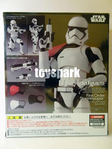"BANDAI S.H Figuarts Star Wars The Last Jedi FIRST ORDER STORMTROOPER 6/"" figure"