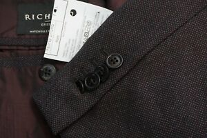 Ermenegildo Zegna CURRENT Brown Nailhead Roma Wool 2 Pc Suit Jacket Pants Sz 48L