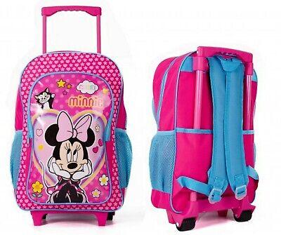 Minnie Mouse Large Kids Chariot Bagage Sac à dos Sac à dos sac valise sur roulettes