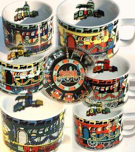 RAILWAY-Eisenbahn-Zug-BOPLA-Porzellan-Kaffeetasse-Teetasse-Voyage