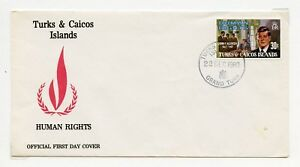 TURKS-amp-CAICOS-JOHN-KENNEDY-1980-amp-1983-FIRST-DAY-COVERS