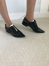 93ef4d8de2a Furla Shoes Slides Flats Pointed Toe Black And White Size 37 Freda Salvador