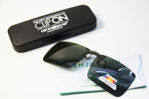 Clip Prendisole Pieghevole Sole vorhänger per Occhiali Polarizzante Verde clip on NUOVO
