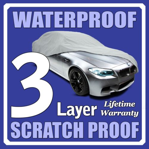 3 Layer Car Cover Breathable Waterproof Layers Outdoor Indoor Fleece Lining Fik