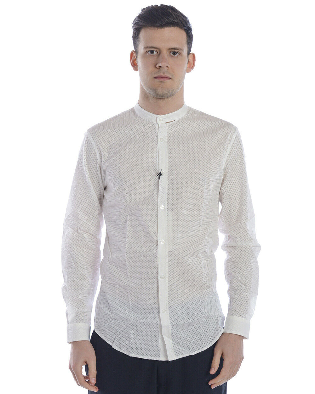 Daniele Alessandrini hemd Man Weiß C6365R12053801 2 Sz. M PUT OFFER