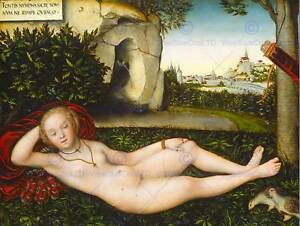 CRANACH-ELDER-GERMAN-NYMPH-SPRING-OLD-ART-PAINTING-POSTER-PRINT-BB5158B
