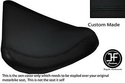 BLACK AUTOMOTIVE VINYL CUSTOM FOR SUZUKI SV 650 98-02 FRONT RIDER SEAT COVER