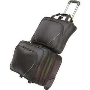 Image Is Loading Maxam 2pc Rolling Trolley Business Overnight Bag Laptop
