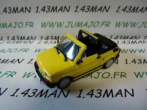 PL40U-VOITURE-1-43-IXO-IST-deagostini-POLOGNE-FIAT-126-P-Cabrio-jaune
