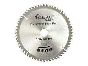 TCT Circular Saw Blade For Wood 160 mm x 22 mm x 60 T  G16