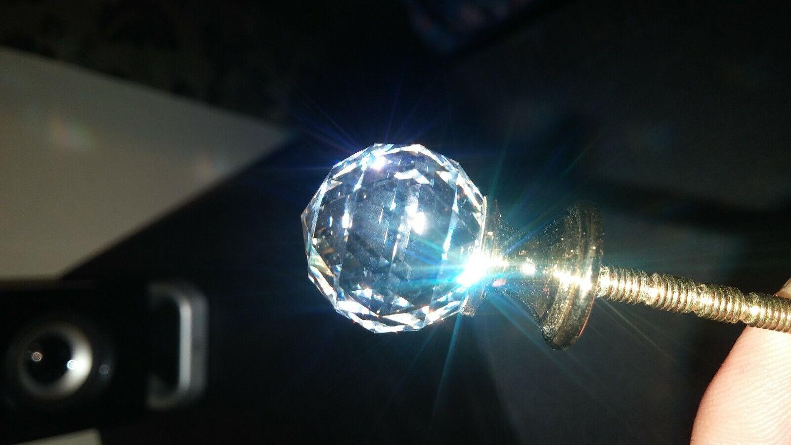 Traditional Swarovski Crystal Brass Knob - 993 - Lot of 26 Knobs
