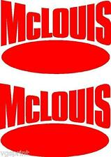 2 x MCLOUIS MOTORHOME/CARAVAN STICKERS CHOICE OF COLOURS OTHER SIZES