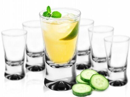6 alcool verres tequila verres clairs verres x Emaillé prises de vue stamper vodka