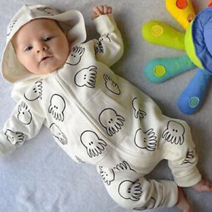 US-Toddler-Kids-Baby-Boy-Girl-Tops-Hooded-Romper-Jumpsuit-Zipper-Outfits-Clothes