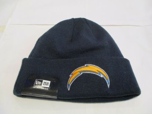 SAN DIEGO CHARGERS NAVY BEANIE BY NEW ERA  SIZE ADULT BRAND NEW