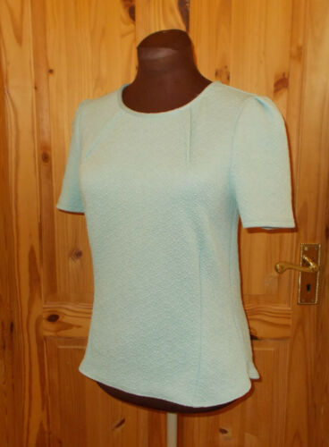 Pale Aqua Short Oasis 38 Mint S Seersucker Green Top Turquoise 10 Sleeve Tunic qppEwYd