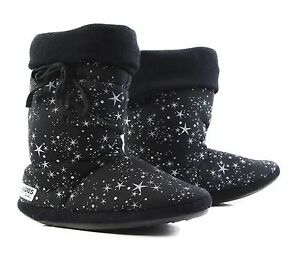 Womens-Grosby-Hoodies-BOOTS-UNIVERSE-BLACK-WHITE-Stars-Slippers-Size-S-M-L-XL