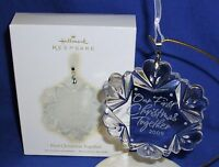 Hallmark Ornament Our First Christmas Together 2009 Glass Snowflake