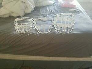 Used Xenith Football Helmet Facemasks White Gray or Black