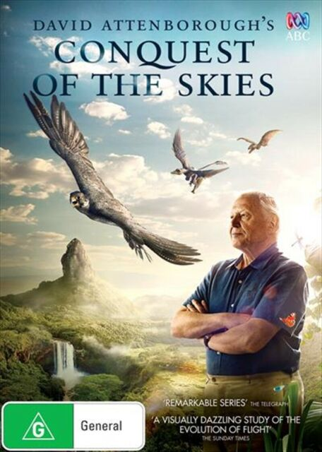 David Attenborough's Conquest of The Skies (DVD,2015) NEW+SEALED