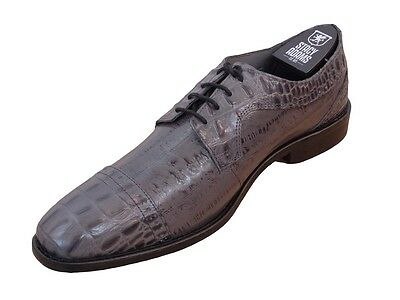 Men's Stacy Adams Dress Shoes Giancarlo 24901 Gray Cap Toe Oxfords Leather