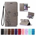 Flip Leather Wallet Card Stand Case Cover For iPhone 4 5 5S 6 6S 7 Plus SE Touch