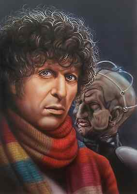 tom baker as doctor who 5 x 7  original print.artwork by duncan gutteridge