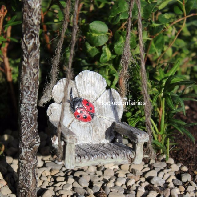 25529718a26e9 1) WHOLESALE FAIRY GARDENS LADYBUG SWING #1337 for sale online | eBay