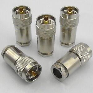 5x-PL259-Plug-Male-Clamp-for-LMR400-RG213-Ecoflex-Ultraflex-Hyperflex-10-UHF
