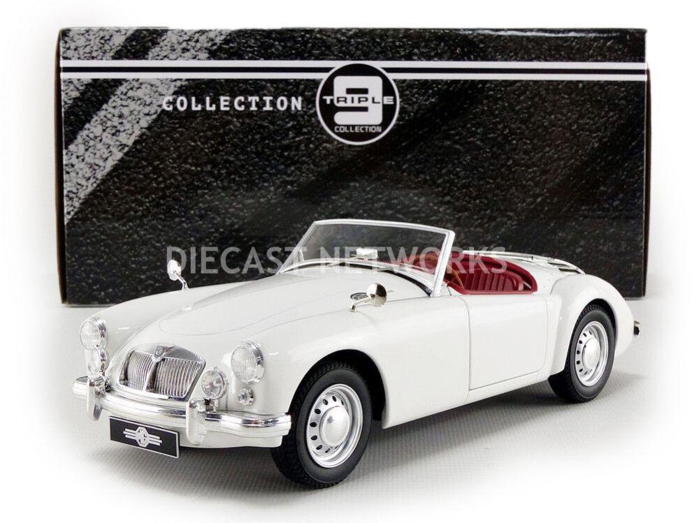 Triple 9 1961 MG a 1600 Mki Color blancoo en 1 18 Escala Nueva Versión