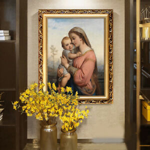 D125-Catholic-Christian-Holy-Religion-Framed-Painting-Picture-Jesus-Christ-M