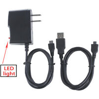 Ac/dc Battery Charger Wall Power Adapter+usb Cord For Kodak Playsport Zx5 Camera