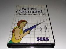 Secret Command Sega Master System PAL Preloved *No Manual*