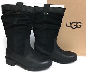 f5ea1d88778 Details about UGG Australia BRUCKNER Black WATER RESISTANT Slouch BOOTS  1017487 sizes