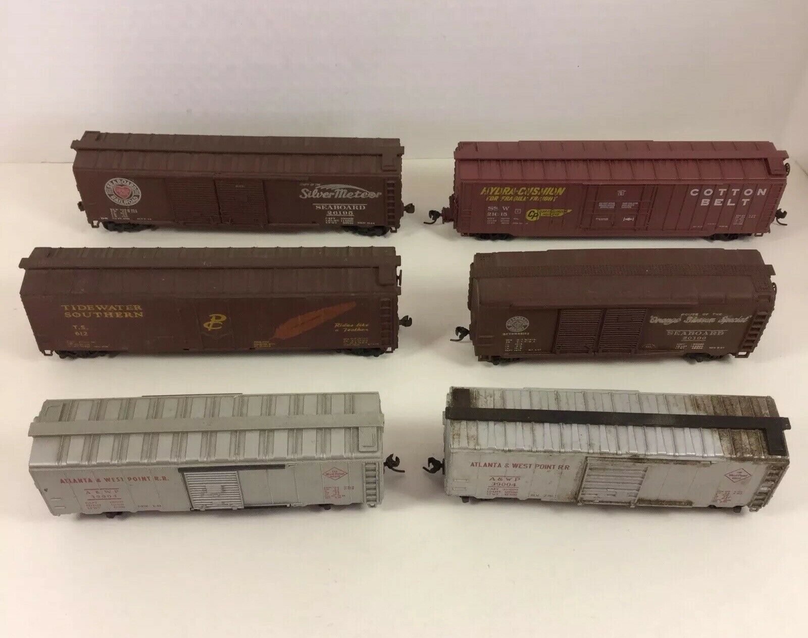 HO Scale Atlanta Cotton Belt Tidewater Freight scatolaauto Reefers Weatherosso Lot of 6