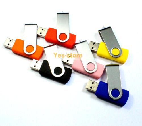 USB2.0 flash memory 4GB 50PCS thumb stick USB Drive Pen Swivel Model Best Gift